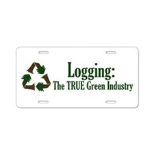 Logging: True Green Industry Aluminum License Plat