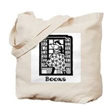 Books - Retro Librarian Readi Tote Bag