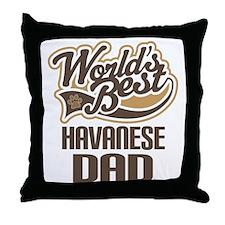 Havanese Dad Throw Pillow