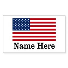 Personalized American Flag Decal