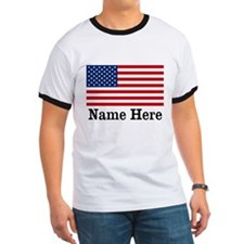 Personalized American Flag T