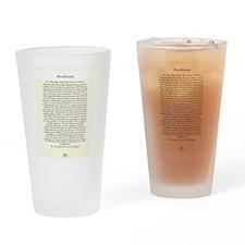 DESIDERATA Wallpaper Drinking Glass