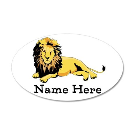 Personalized Lion 20x12 Oval Wall Decal