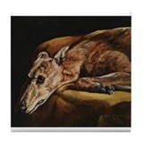 Greyhound Resting Tile Coaster