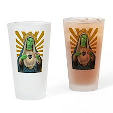 Virgin Mary Zombie Drinking Glass
