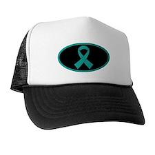 Teal Ribbon Trucker Hat