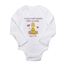 Melt hearts with a smile baby shirt Body Suit