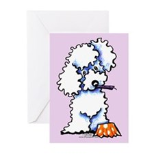 Funny Birthday Poodle Greeting Cards (Pk of 20)