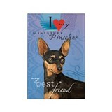 Miniature Pinscher Rectangle Magnet