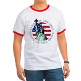 Statue of Liberty American Flag Shirt