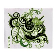 OYOOS Green Flower design Throw Blanket