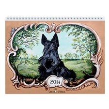 2014 Scottish Terrier Version II Wall Calendar