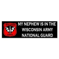 Bumper Sticker: Nephew In National Guard