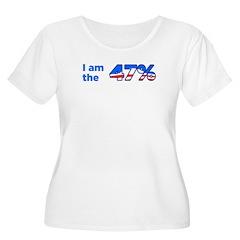 I am the 47% Bumper Sticker Women's Plus Size Scoo