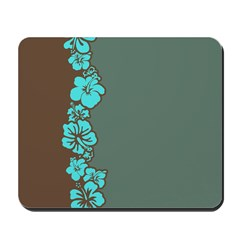 """Hibiscus Stripe"" (Turq/Brown) Mousepad"