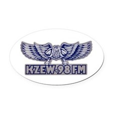 KZEW (1980) Oval Car Magnet