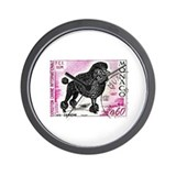 1975 Monaco Dog Show Poodle Stamp Wall Clock