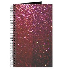 Hot Pink Faux Glitter Journal
