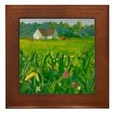 Cute Country cottage Framed Tile