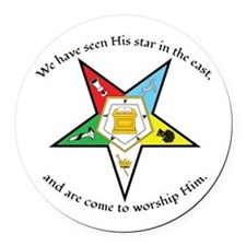 Eastern Star Matthew 2:2 Round Car Magnet