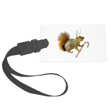 Reindeer Squirrel Luggage Tag