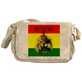 Rasta lion Messenger Bags