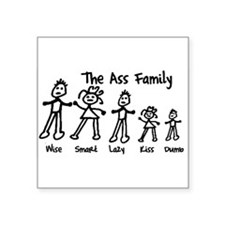 Ass Family Rectangle Sticker