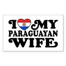 I Love My Paraguayan Wife Decal