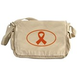Orange Awareness Ribbon Messenger Bag