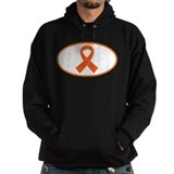 Orange Awareness Ribbon Hoodie