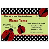 Ladybug baby shower invitations 5 x 7 Flat Cards