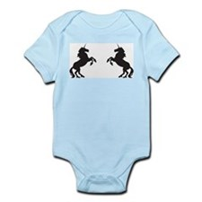 Twin Unicorns Infant Bodysuit