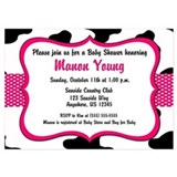 Cow print baby shower Invitations & Announcements
