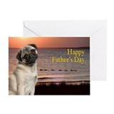 Funny Pug Father's Day Card