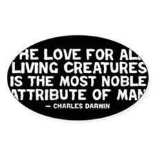 Love of All Creatures - Darwi Rectangle Decal