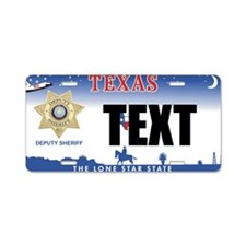 Texas Deputy Sheriff Custom License Plate