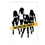 Bachelor Party Police Tape Postcards (Package of 8