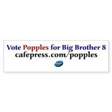 Vote for Popples Bumper Bumper Sticker