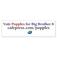 Vote for Popples Bumper Bumper Sticker