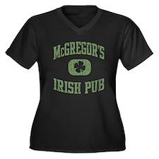 Vintage St. Patrick's Pub Women's Plus Size V-Neck