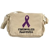 Fibromyalgia Awareness Ribbon Messenger Bag