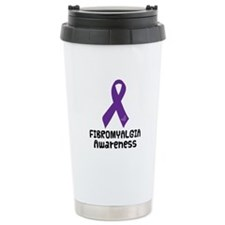 Fibromyalgia Awareness Ribbon Ceramic Travel Mug