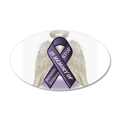 Domestic Violence Angel 35x21 Oval Wall Decal