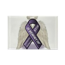 Domestic Violence Angel Rectangle Magnet