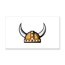 Viking Helmet Rectangle Car Magnet