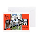 Madison Wisconsin Greetings Greeting Cards (Packag