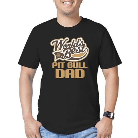 Pit Bull Dad Men's Fitted T-Shirt (dark)