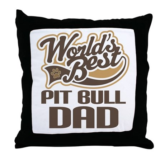 Pit Bull Dad Throw Pillow