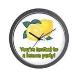 Lemon Party Wall Clock