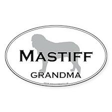 Mastiff GRANDMA Oval Decal
